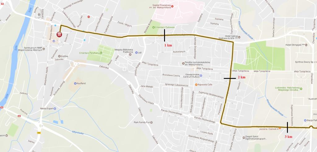 1 etap mapa 3km