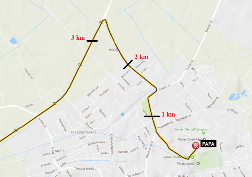 3 etap mapa 3km